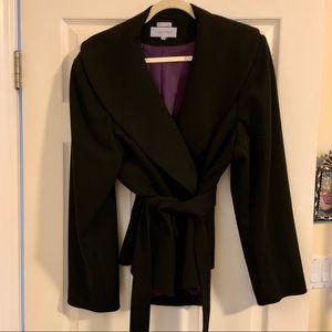 Ponte knit black wrap blazer 22w